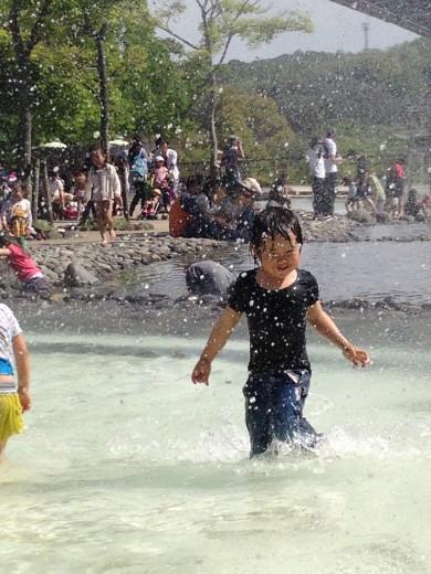 モリコロパークの水遊び場