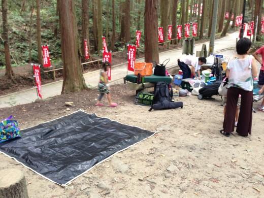 不動ヶ滝キャンプ場でのテント