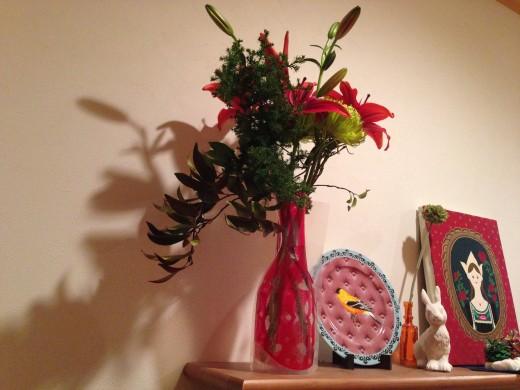 花を家に飾ってみた2