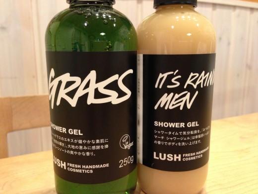 LUSHのシャワージェルは250gのボトルサイズで色々香りを試すのが楽しい