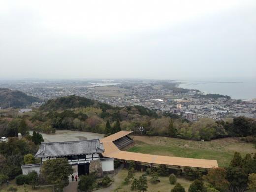 安土城からの眺め